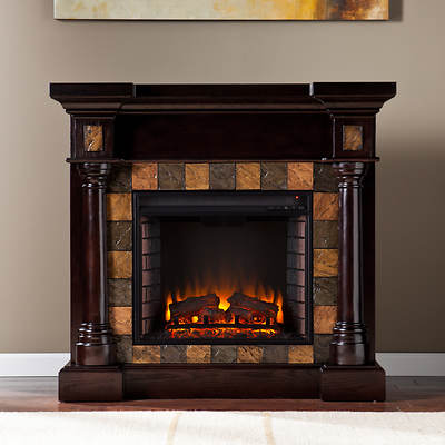 SEI Bradley Park Convertible Electric Fireplace - Espresso