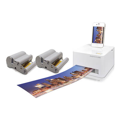 VuPoint P20 Photo Cube Compact Photo Printer Kit with 2 Refill Cartridges