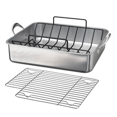 Tramontina Stainless Steel Roasting Pan with Rack