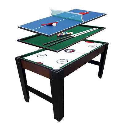 "MD Sports Big Four 54"" Pool, Air Hockey, Table Tennis and Foosball Table"