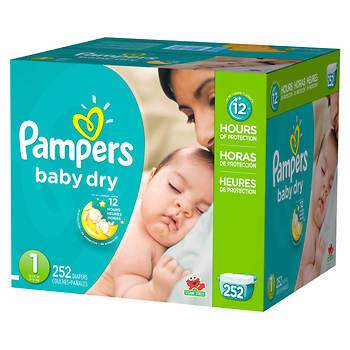 Pampers Baby Dry Size 1 Diapers, 252 ct.