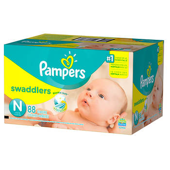 Pampers Swaddlers Size N Diapers, 88 ct.