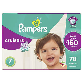 Pampers Cruisers Size 7 Diapers, 78 ct.