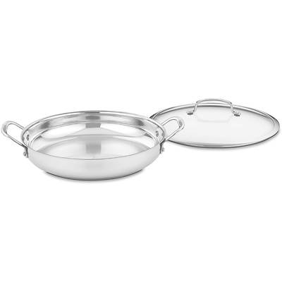"Cuisinart Contour 12"" Stainless Steel Everyday Pan with Cover"
