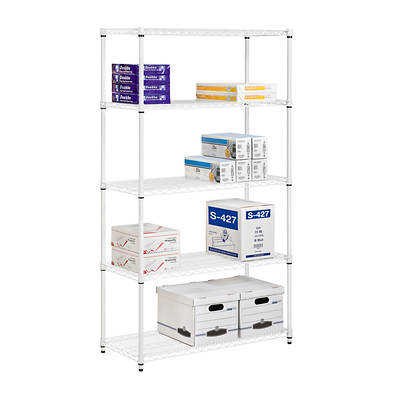 Honey-Can-Do 5-Tier Storage Shelves - White