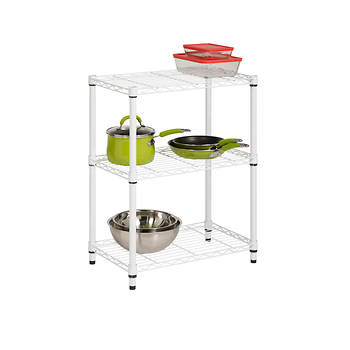 Honey-Can-Do 3-Tier Storage Shelves - White