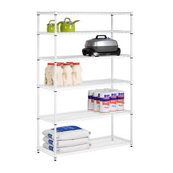 Honey-Can-Do 6-Tier Storage Shelves - White