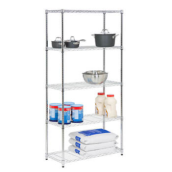 Honey-Can-Do 5-Tier Storage Shelves - Chrome
