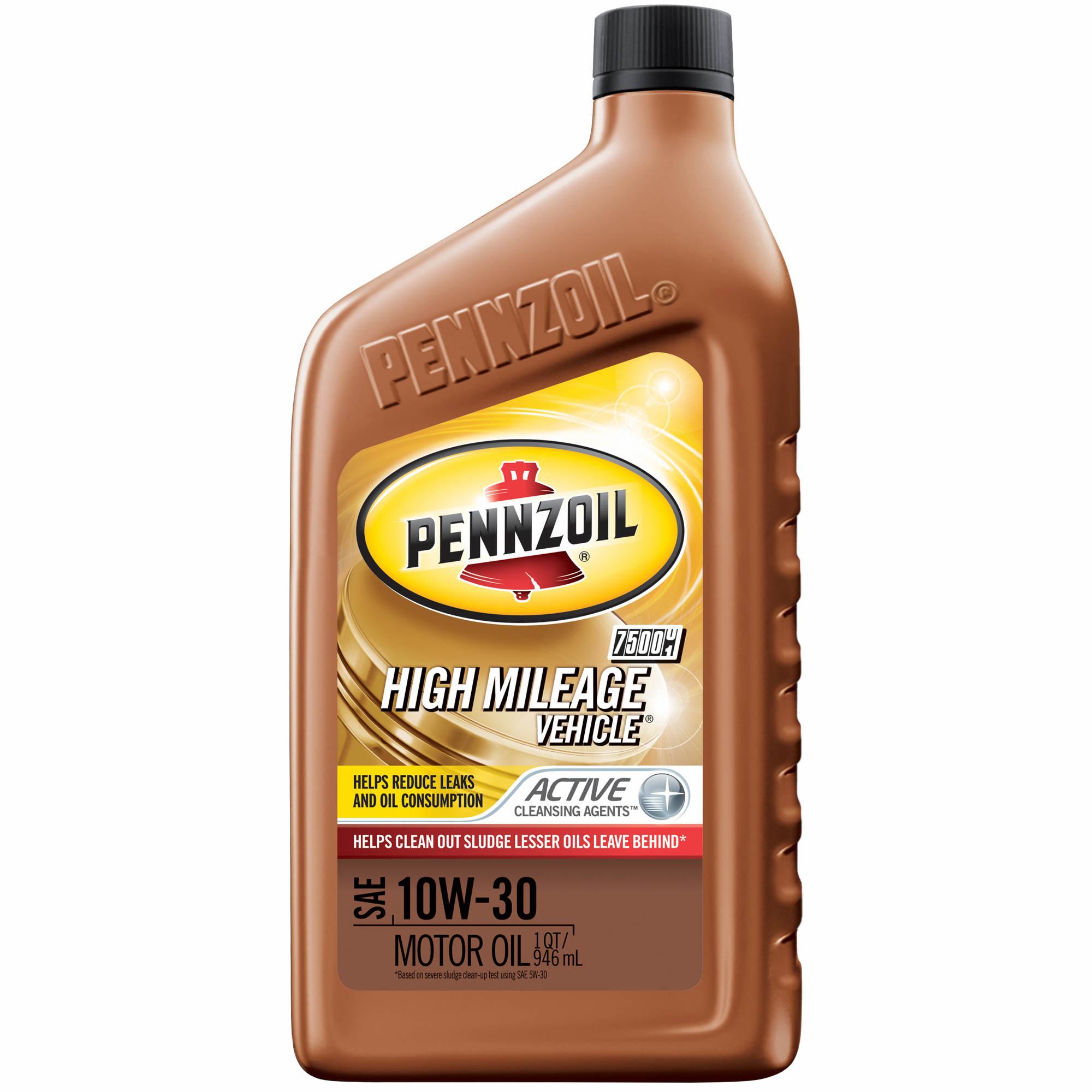 Pennzoil 10w30 hmv high mileage motor oil 6 qt bjs for Pennzoil high mileage motor oil
