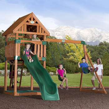 Backyard Odyssey Trek All Cedar Swing Set