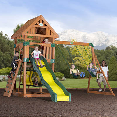 Backyard Odyssey Compass All Cedar Swing Set