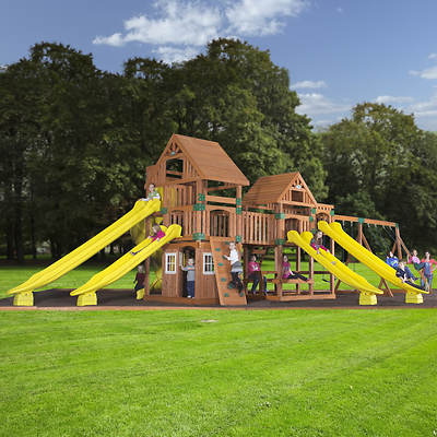 Backyard Odyssey Safari All Cedar Swing Set