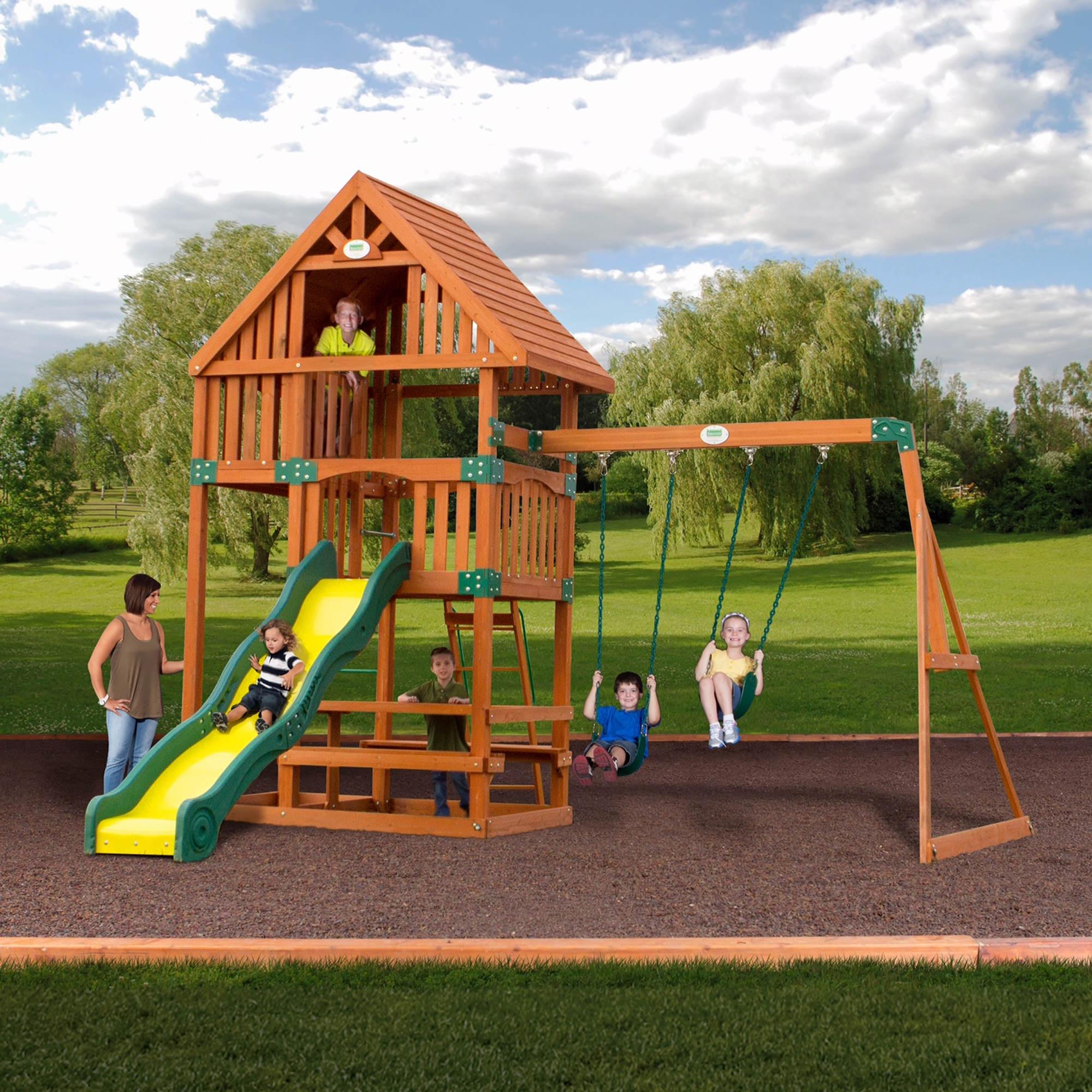 backyard discovery rockport all cedar swing set bj 39 s wholesale club