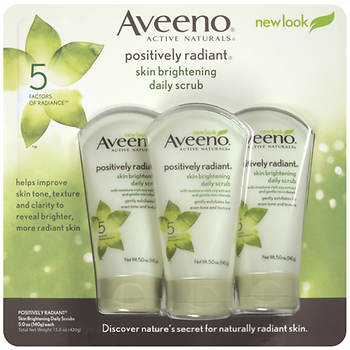 Aveeno Positively Radiant Skin Brightening Daily Scrub, 3 pk./5 oz.