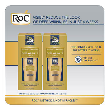 RoC Retinol Correxion Deep Wrinkle Serum, 2 pk./1 oz.