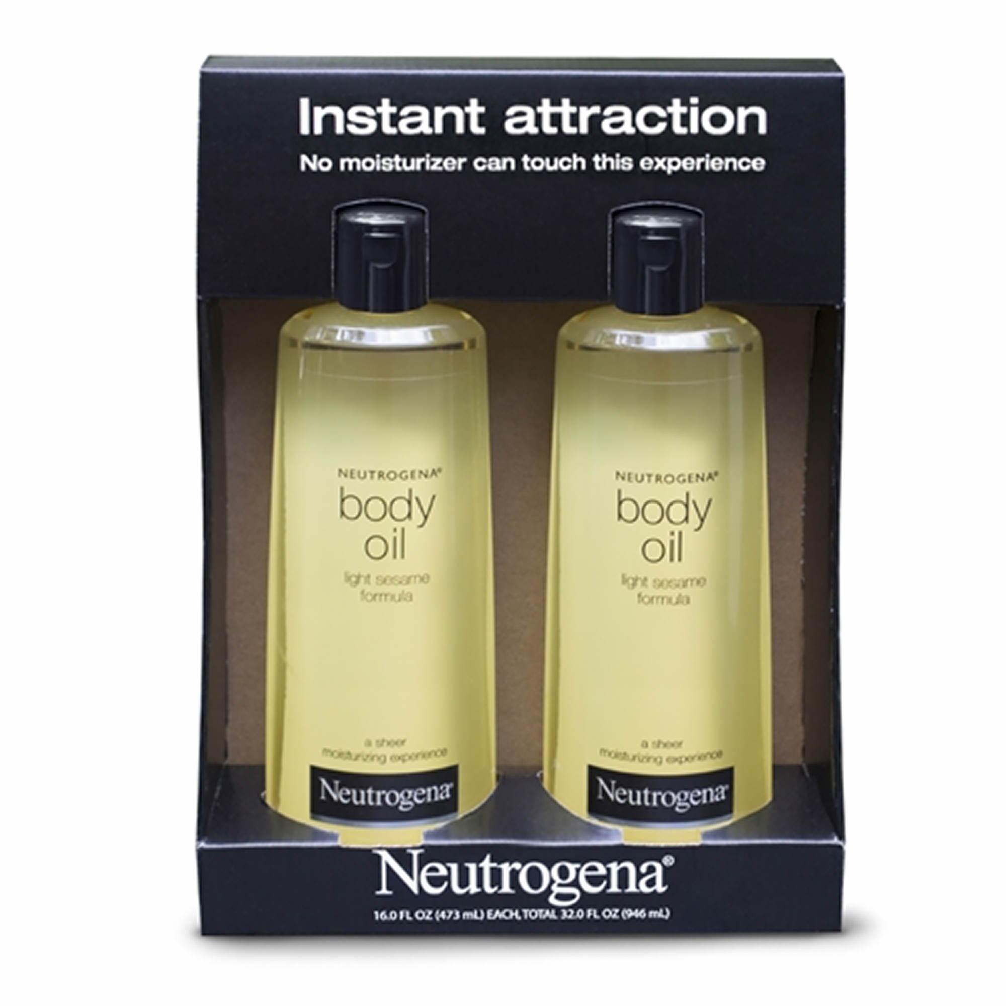neutrogena light sesame formula body oil 2 pk 16 fl oz bj 39 s. Black Bedroom Furniture Sets. Home Design Ideas