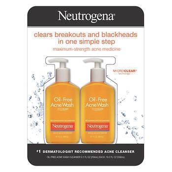 Neutrogena Oil Free Acne Wash with MicroClear Technology, 2 pk./9.1 fl. oz.
