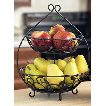 Pfaltzgraff 2-Tier Fruit Basket