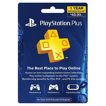 $49.99 1-Year Membership PlayStation Plus Gift Card