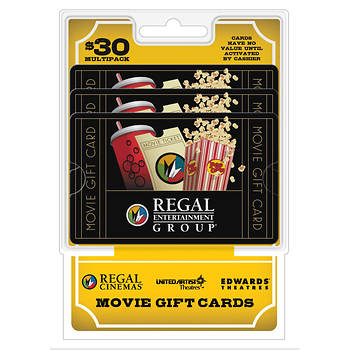 $10 Regal Entertainment Group Gift Card, 3 pk.