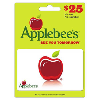 $25 Applebee's Gift Card