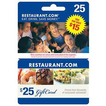 $15 Restaurant.com Gift Card