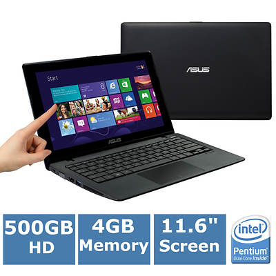 ASUS X200CA-DH21T Laptop, 1.8GHz Intel Pentium 2117U Processor