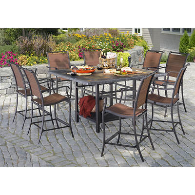 Living Home Outdoors Toscano 9-Piece High Dining Set