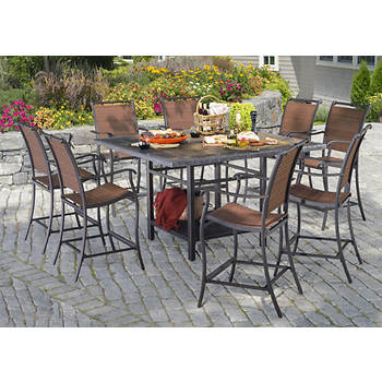 Living Home Outdoors Toscano 9-Pc. High Dining Set