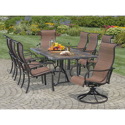 Living Home Outdoors Toscano 9-Piece Dining Set