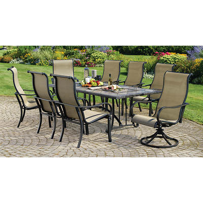 Living Home Outdoors Palazzo 9-Piece Dining Set
