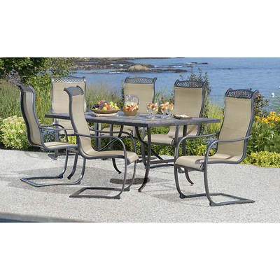 Living Home Outdoors Palazzo 7-Piece Dining Set
