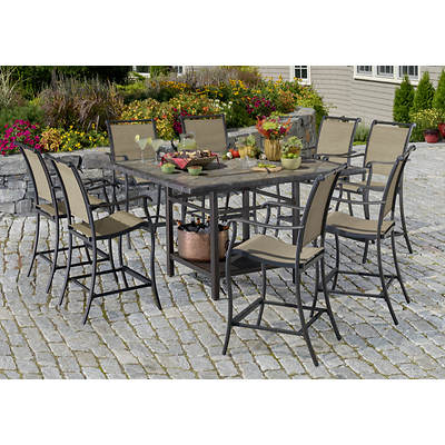 Living Home Outdoors Palazzo 9-Piece High Dining Set