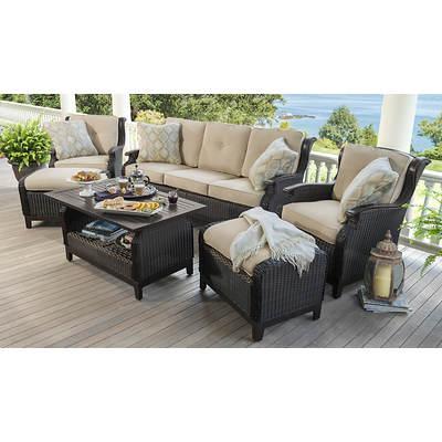 Living Home Outdoors Cordoba 6-Piece Patio Set - Beige