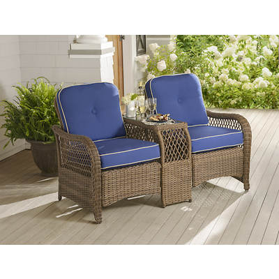 Living Home Outdoors South Hampton Tete-A-Tete - Blue