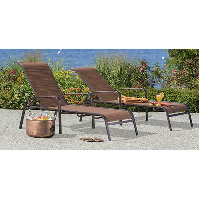Living Home Outdoors Toscano Chaise Lounge, Set of 2