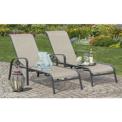 Living Home Outdoors Palazzo Chaise Lounge, Set of 2