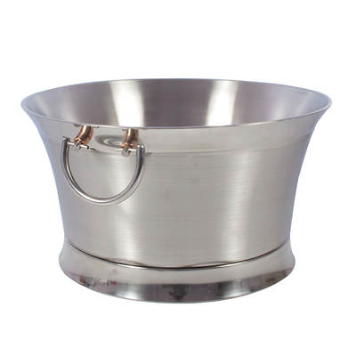 Living Home Outdoors Stainless Steel Beverage Tub with Copper Accents