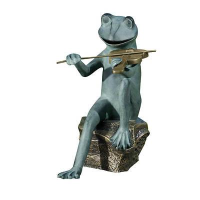 Living Home Outdoors Cast Aluminum Frog Speaker with Wireless Speaker