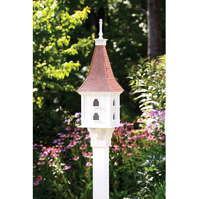 Living Home Outdoors Copper Roof Bird House with Pole