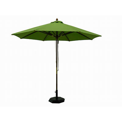 Living Home Outdoors 9' Wood Market Umbrella - Lime Green