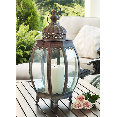 Living Home Outdoors Victorian-Style Glass Lantern