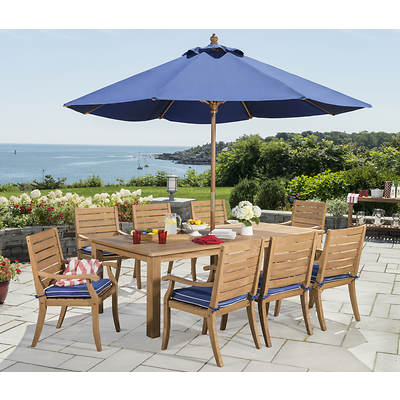 Monterey 9-Piece Teak Dining Set