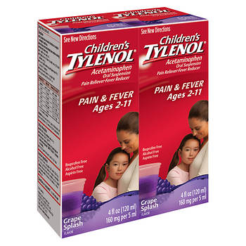 Children's Tylenol Grape Splash Flavored Liquid, 4 Fl. oz., 2 pk.