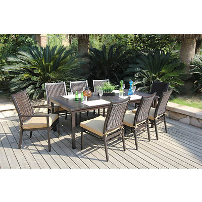 Bellini home and gardens minas 9 piece dining set Channel 7 home and garden