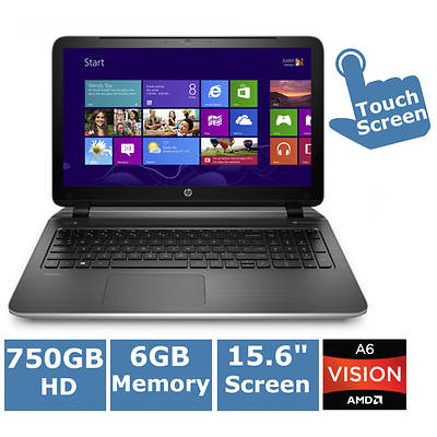 HP Pavilion TouchSmart 15-n220us Laptop, 2GHz AMD Quad-Core A6-5200 Accelerated Processor