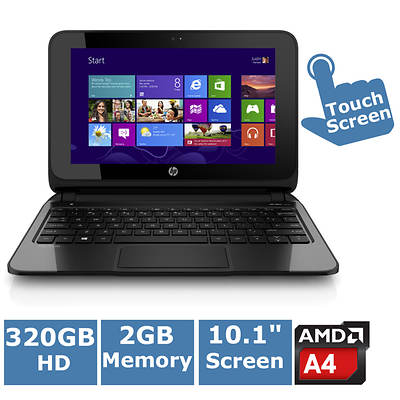 HP Pavilion 10-e010nr TouchSmart Laptop, 1GHz AMD A4-1200 Accelerated Processor with Bonus Carrying Case