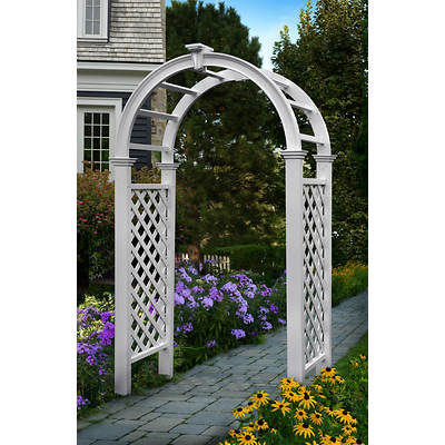 New England Arbors Livingston Arbor with Keystone Solar Light