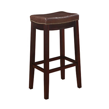 "Linon Claridge 30"" Barstool - Brown/Dark Brown"