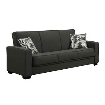 Handy Living Puebla Convert-a-Couch - Smoky Charcoal Gray